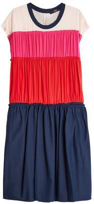 Steffen Schraut Color Block Silk Dress