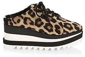 Stella McCartney Women's Leopard-Print Platform Wedge Sneaker Mules