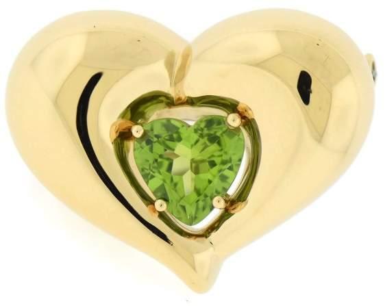 Van Cleef & ArpelsVan Cleef & Arpels 18K Yellow Gold Peridot Heart Pin Brooch
