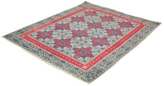 """Ecarpetgallery Hand-Knotted Signature Collection Red, Grey Wool Rug 8'0"""" X 10'0"""