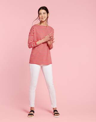 Liliana Joules Clothing Red Sky Stripe Jersey Top