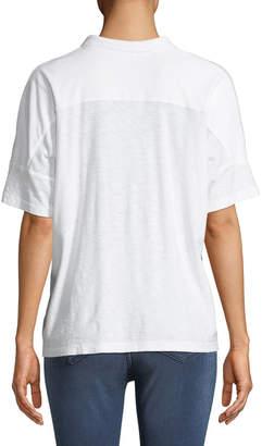 James Perse Boxy Cropped Polo Shirt
