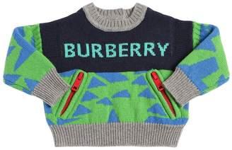 Burberry Cashmere Knit Intarsia Sweater