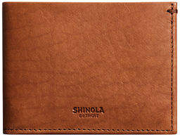 Shinola Men's Slim Leather Bifold Wallet