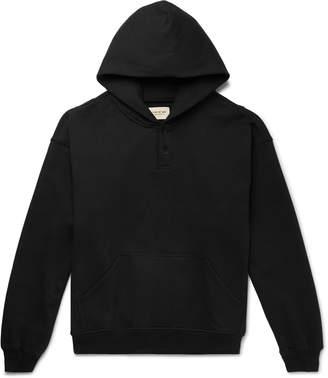 Fear Of God Oversized Loopback Cotton-Jersey Hoodie - Men - Black