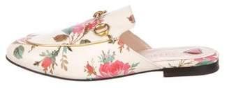Gucci Princetown Horsebit Floral Mules