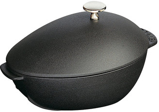 Staub 2 Qt Cast Iron Mussel Pot - Matte Black