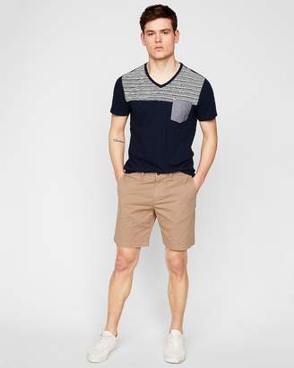 Express Classic 8 Inch Flat Front Shorts