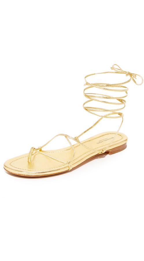 Michael Kors Collection Bradshaw Wrap Sandals