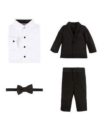 Andy & Evan Wool-Blend Four-Piece Tuxedo Set, Black, Size 2-6 $149 thestylecure.com