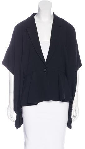 Chalayan Chalayan Short Sleeve Notch-Lapel Blazer w/ Tags