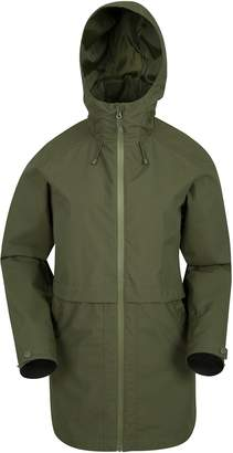 Warehouse Mountain Rain Drops Womens Long Jacket - Ladies Summer Coat