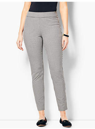 Talbots Cotton Bi-Stretch Pull-On Skinny Ankle Pant - Curvy Fit/Mini Check