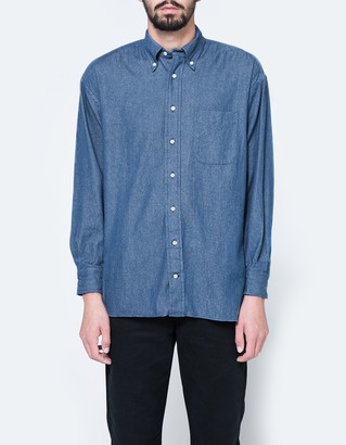 Oversized 6oz Denim Shirt $205 thestylecure.com