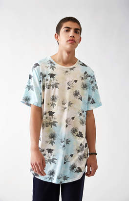 GUESS Pacsun Morien Washed Floral Scallop T-Shirt