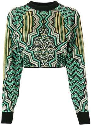 M Missoni Art Deco intarsia cropped sweater