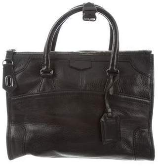 Reed Krakoff Grained Leather Satchel Black Grained Leather Satchel