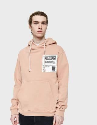 Maison Margiela Cotton Hooded Sweatshirt in Dusty Pink