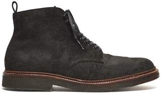 Alden x Todd Snyder Exclusive Plain Toe Boot in Reverse Earth Chamois