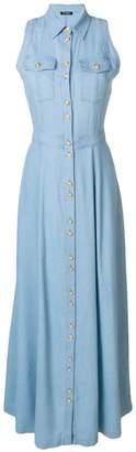 Balmain long denim dress