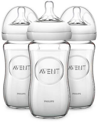 Philips Three-Pack Avent Natural Glass Bottle Set