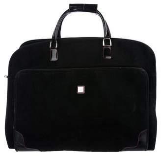 Diane von Furstenberg Leather-Trimmed Garment Bag