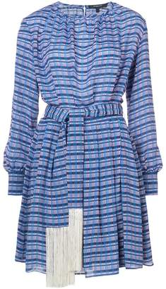Derek Lam Long Sleeve Midi Dress with Tasseled Belt