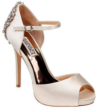 Badgley Mischka Dawn Peep Toe Ankle Strap Pumps