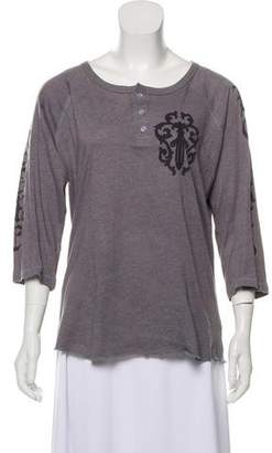 Chrome Hearts Graphic Henley Top
