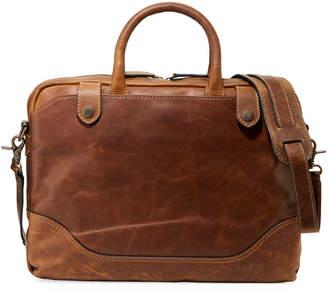 Frye Men's Logan Slim Leather Briefcase, Dark Brown