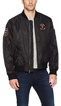 Tommy Hilfiger Men's Retro Varsity Letterman's Bomber Jacket
