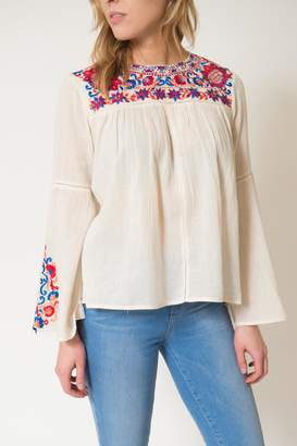 Kas Rose Embroidered Top