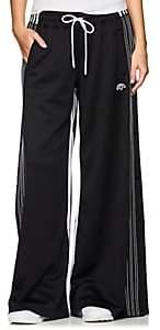 adidas by Alexander Wang Women's Jersey Wide-Leg Drawstring Pants - Black