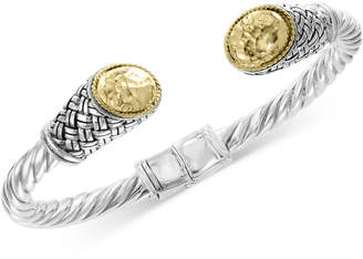 Effy Twist Weave Cuff Bracelet in Sterling Silver & 18k Gold