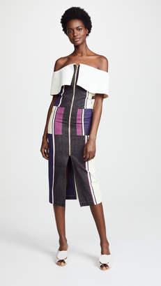 Tata-Naka Tata Naka Off Shoulder Collared Dress