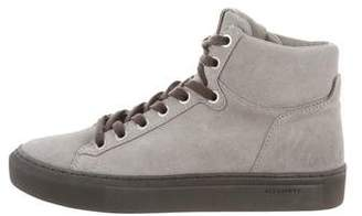AllSaints Suede High-Top Sneakers