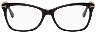 Tom Ford Black and Gold Cat Eye Glasses