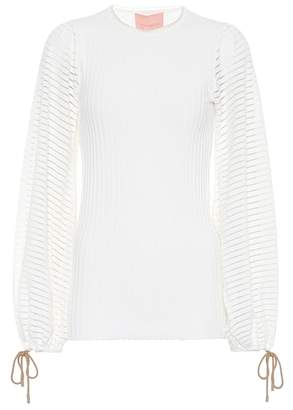 Saida ribbed-knit top