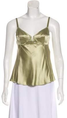 Donna Karan Sleeveless Silk Top