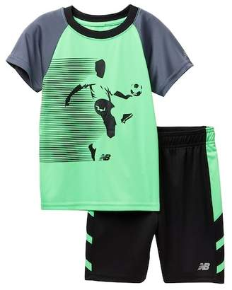 New Balance Short Sleeve Tee & Shorts Set (Toddler & Little Boys)