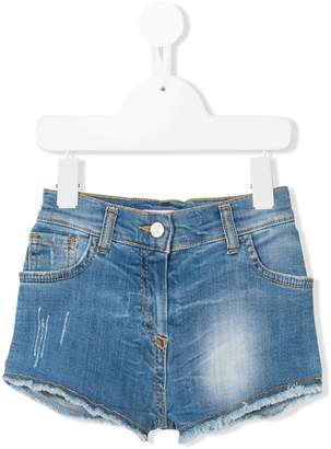 Miss Blumarine frayed edges denim shorts