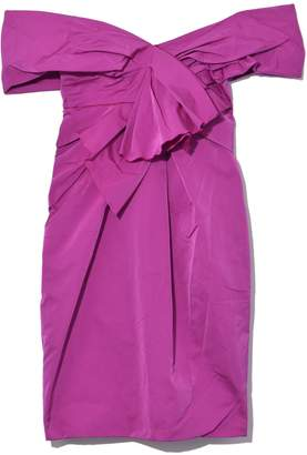 Marc Jacobs Off Shoulder Mini Dress with Bow in Fuchsia