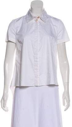 Thakoon Button-Up Short Sleeve Top