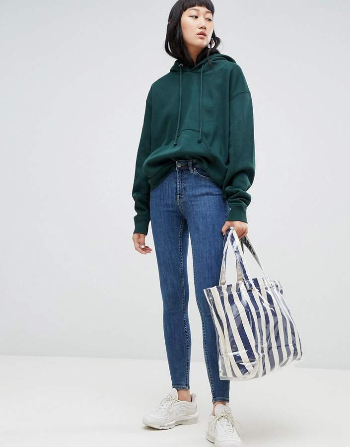 Body Super Stretch Skinny Jeans in Mid Standard Blue