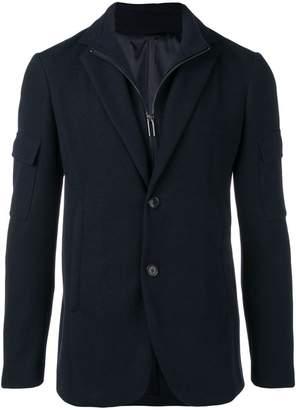 Emporio Armani layered track top and blazer