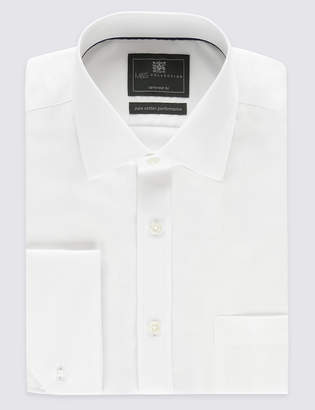 M&S CollectionMarks and Spencer Pure Cotton Non-Iron Twill Tailored Fit Shirt