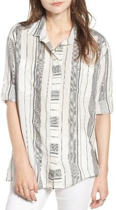 Women's Rip Curl Split Back Stripe Top $56 thestylecure.com