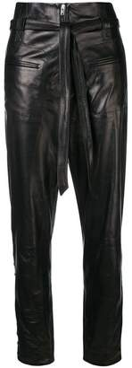 IRO lambskin cropped trousers