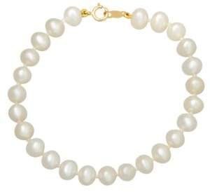 Lord & Taylor 14K Yellow Gold 5MM Pearl Strand Baby Bracelet