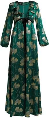 Rochas Floral silk-blend jacquard gown
